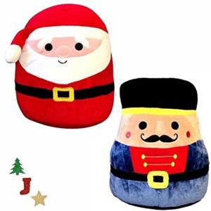 Squishmallows Santa Nick Nutcracker Logan set of 2
